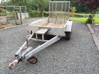 Indespension plant trailer, suitable to carry 2 ton mini-digger or similiar. Tidy condidtion.