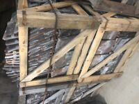 Crates of Natural Clay Roofing Tiles