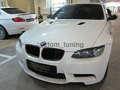 CARBON FIBER HEADLIGHT EYE LID COVER PAIR EYEBROWS FOR 07-2012 BMW E92 COUPE E93 Carbon Headlight Covers