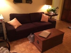 1 year old Chocolate Brown Ikea Kivik Sofa in mint condition