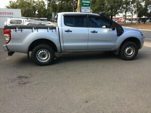 2012 Ford Ranger PX XL 2.2 Hi-Rider (4x2) Silver 6 Speed Manual Crew Cab Pickup West Croydon Charles Sturt Area Preview