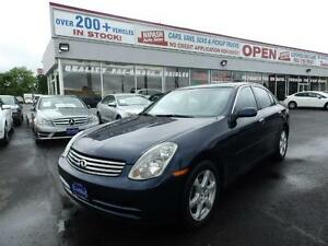 2004 INFINITI G35 AWD CERTIFIED NO ACCIDENTS 2 YEAR P-T WARRANTY