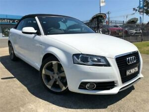 2012 Audi A3 8P MY13 Ambition S Tronic White 6 Speed Sports Automatic Dual Clutch Convertible Mulgrave Hawkesbury Area Preview