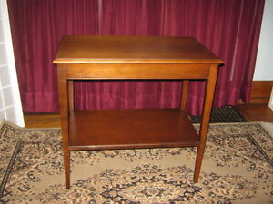 Electrohome Side or End Table  Solid Wood