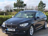 BMW 5 SERIES 3.0 530D M SPORT GRAN TURISMO 5d AUTO 255 BHP (black) 2013