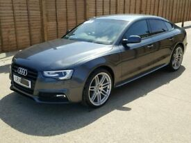 breaking parts audi a5 sportback facelift 2.0tdi cnh engine gearbox doors grey black leather interio