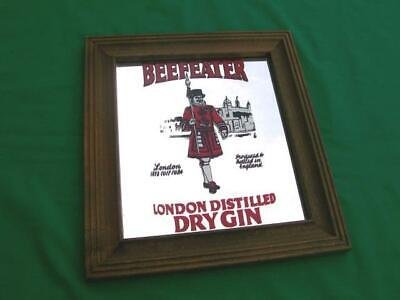 VINTAGE BEEFEATER LONDON DISTILLED DRY GIN MIRROR