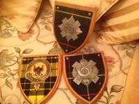 3 military plaques