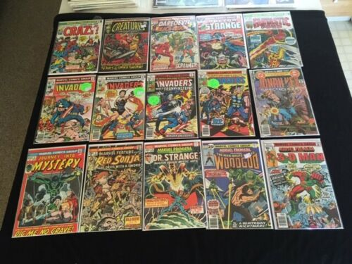 25 ASSORTED ISSUE LOT FN/VF MARVEL and DC BRONZE AGE COMICS NICE BOOKS 1970s