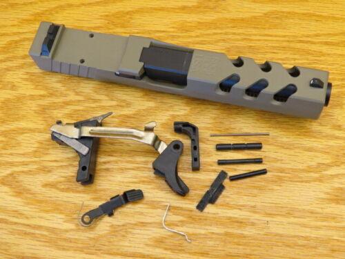 Rock Slide USA Complete Upper for Glock 22 GEN3 40cal With Barrel & LPK. FDE RMR