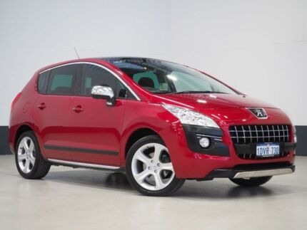 2012 Peugeot 3008 XTE 1.6 Turbo Red 6 Speed Automatic Wagon Bentley Canning Area Preview