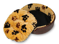 New Luxury Faux Fur Puppy Dog Cat sofa bed