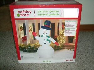 INFLATABLE AIRBLOWN SNOWMAN 7' TALL NEW