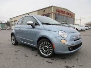 2014 Fiat 500 LOUNGE, ROOF, HTD. LEATHER, BT, 35K!