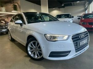 2016 Audi A3 8V MY16 Attraction Sportback S Tronic Ibis White 7 Speed Sports Automatic Dual Clutch