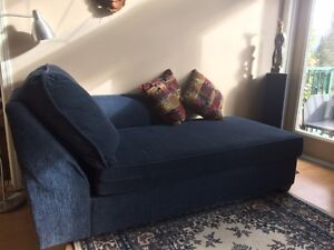 Big blue couch for sale. So sad to part with 'er.