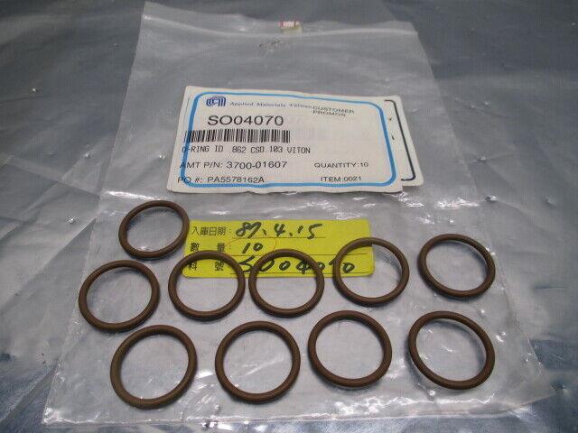 10 AMAT 3700-01607 Oring, ID /862, CSD .103, Viton, 102312