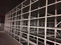 JOBLOT 20 bays of LINK industrial shelving 3m high AS NEW ( storage , pallet racking )