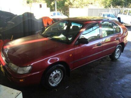 1997 Toyota Corolla AE101R CSi Seca Red 4 Speed Automatic Liftback Jewells Lake Macquarie Area Preview