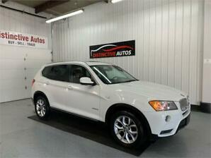 2013 BMW X3 xDrive28i LEATHER/NAVIGATION/B.CAM/PANO ROOF
