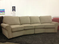 SECTIONAL -CURVED 10 foot set IN FABRIC ONLY $888!!!