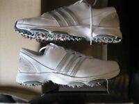 Ladies White Adidas Golf Shoes (Size 7)