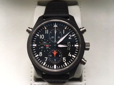 IWC Double Chronograph Pilots Limited Edition Top Gun Watch IW3779901
