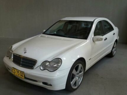 2002 Mercedes-Benz C200 W203 Kompressor Classic White 5 Speed Auto Tipshift Sedan Georgetown Newcastle Area Preview