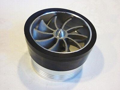 Silver Air Intake Turbo Fan Ram Pipe Induction Filter Kit Universal  Chrome