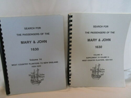 Search for Passengers of Mary & John West Country Planters to New England V14&16