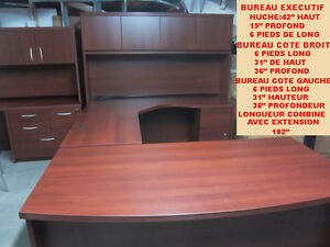 BUREAU DE TRAVAIL EXECUTIF EN U COMPUTER OFFICE U DESK WORKSTATI