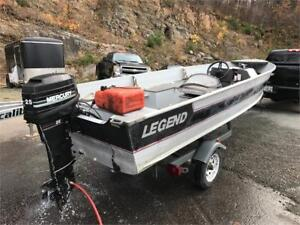 ***JUST CAME IN ON TRADE*** 16' LEGEND ALUMINUM FISHING BOAT