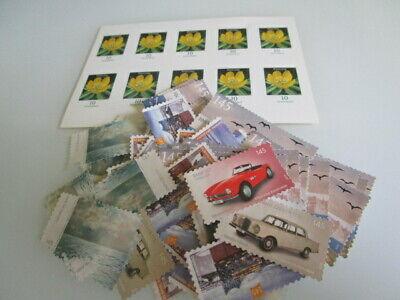 10 x10 Cent Postfrisch + 50 Stück Marken ohne Gummierung 1,45 € B-Ware