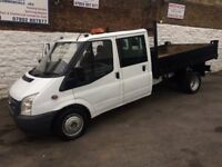 Ford Transit 7 seater double cab t350l twin wheel tipper 2008 reg