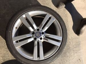 """4   20"""" mercedes rims and tires"""