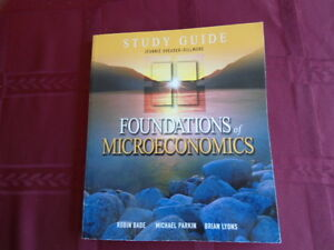 FOUNDATIONS OF MICROECONOMICS BOOK AND STUDY GUIDE Kitchener / Waterloo Kitchener Area image 2