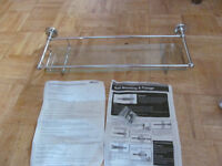 Homebase Vermont chrome and toughened glass bathroom shelf brand new in packaging