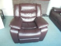 Brown leather RECLINER CHAIR (additional photos uploaded)