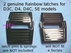 2 genuine Rainbow Rexair vacuum cleaner latch:D3C,D4C.SE locks water basin pan