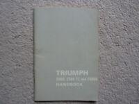 Triumph 2000, 2500 TC and 2500S Handbook