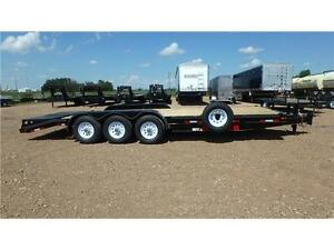2016 24' Triple Axle Equipment Trailer (21000LB) Double A