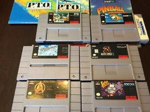 7 SNES GAMES & SOME MANUALS THAT ARE WITHOUT MATCHING GAMES