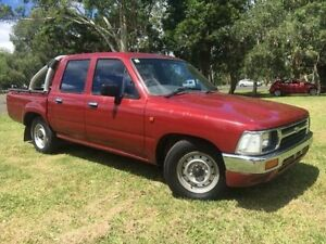 1993 Toyota Hilux LN86R Maroon 5 Speed Manual Dual Cab Pick-up Lismore Lismore Area Preview
