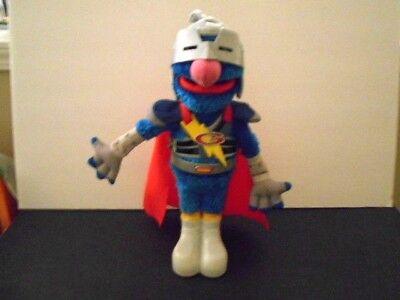 Sesame Street Super Grover Talking Doll, Cape, Helmet Super Hero