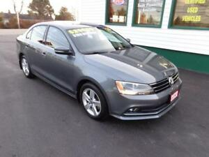 2015 Volkswagen Jetta TDI Comfortline for $180 bi-weekly all in!