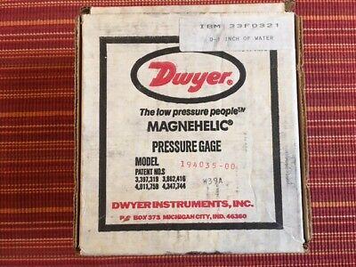 Dwyer Magnehelic Pressure Gage A-27 Ibm 33f0321 New