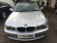 BMW 320CI CONVERTIBLE , EXCELLENT CONDITION, LONG MOT, RECENTLY SERVICED, DRIVES AS NEW, SUPERB CAR