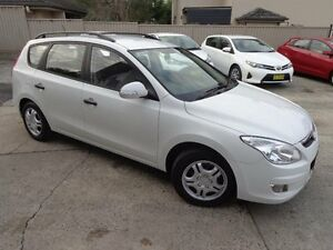 2009 Hyundai i30 FD MY09 CW SX 1.6 CRDi White 4 Speed Automatic Wagon Sylvania Sutherland Area Preview