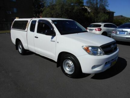 2007 Toyota Hilux GGN15R 07 Upgrade SR White 5 Speed Automatic X Cab Pickup Bankstown Bankstown Area Preview