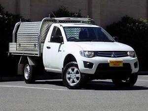 2012 Mitsubishi Triton MN MY12 GLX White 4 Speed Automatic Utility Strathalbyn Alexandrina Area Preview